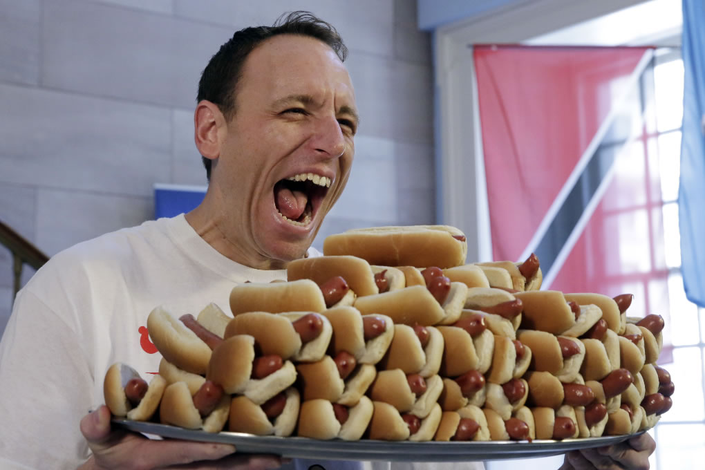 Most Hot Dogs Eaten Record